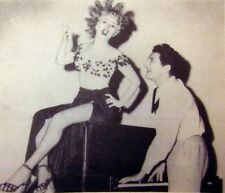 SOUTH SEA SINNER sexy clipping Shelley Winters & Liberace B&W small photo 1950