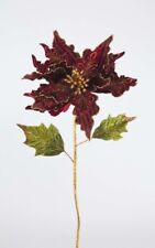 Katherine´s Collection Weihnachtsstern Poinsettia Rot Gold Samt Blume Blüte 71cm
