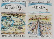 # ADRIA - 20° POLESANI NEL MONDO  - 2 CART.  dis. Artieghi