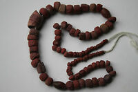 ROMAN RESTRUNG RED STONE BEAD NECKLACE 1/2nd CENTURY AD