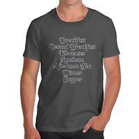Twisted Envy Men's Hobbit Second Breakfast Funny Movie T-Shirt