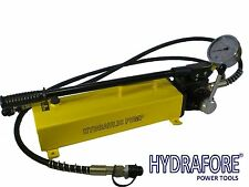 Double Acting Hydraulic Hand Pump w/ Pressure Gauge (10000 psi - 183 in3) B-700S