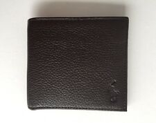 POLO RALPH LAUREN Grained-Leather Billfold Wallet BROWN
