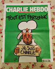1178 CHARLIE HEBDO french magazine RARE  First Edition!! (week after attack!)