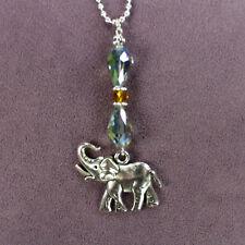 ELEPHANT CAR CHARM Suncatcher Rearview Mirror Dangler Totem Amulet Wild Animal
