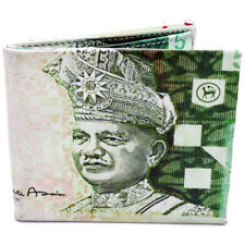 5 Malaysia Ringgit Currency Bi-Fold Leather Wallet (Green)