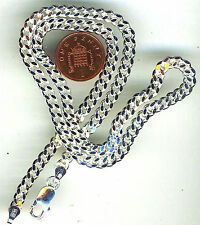"""20"""" 925 Sterling Silver Solid Diamond Cut Curb Chain . Lobster Clasp + 32 grams"""