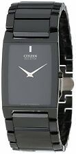 Citizen Eco-Drive Unisex AR3045-52E Stiletto Blade Ceramic Black Bracelet Watch