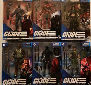 Lot Of 6 GI JOE Classified Series Zartan Snake Eyes Cobra Infantry Red Ninja 👓