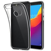 SDTEK Coque pour Huawei P9 Lite Mini Silicone Case Cover TRANSPARENTE