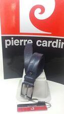 Cintura uomo PIERRE CARDIN in pelle blu made in italy misura 110