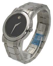Movado 0605105 Mens Quartz Junior Sports Stainless Steel Black Dial Analog Watch