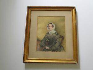 ANTIQUE MASTERFUL COLLECTION 19TH CENTURY  WOMAN PORTRAIT WOMEN   ESTATE RARE