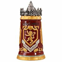 Game of Thrones House Lannister Stein - 22 Ounces Ceramic Base with Pewter