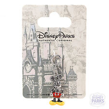 Disney Parks Mickey Mouse 3D Silver Charm with Crystals Dangle