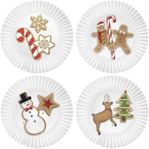 Mary Lake-Thompson Christmas cookies 7.5-inch Melamine Plates set of 4