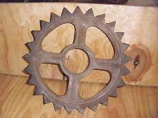 "Old Iron Rusty Industrial Gear Wheel Steampunk Garden Art Decor 14"" diameter"