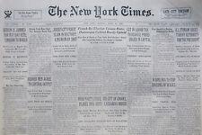 DILLINGER SLAIN REPORT PANCHEN LAMA TIBET 4-1934 April 30 LIQUOR TAX IRISH RIOTS
