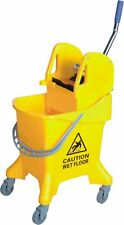 More details for kentucky wringer 31l large commercial mop bucket on wheels yellow blue green