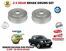 FOR NISSAN NAVARA PICKUP D40 3.0 DCI V6 2010-2016 NEW 2X REAR BRAKE DRUMS SET