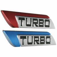 Left/Right 3D Metal Turbo Logo Car Auto Body Fender Emblem Badge Decal Sticker