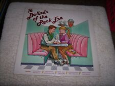 LP<<16 BALLADS OF THE ROCK ERA<<VARIOUS ARTISTS  **NM VINYL**   #2652