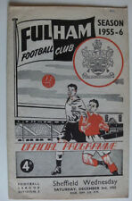 Teams S-Z Sheffield Wednesday Division 2 Football Programmes