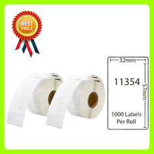 2 Rolls 11354 Labels Compatible for Dymo/Seiko 57 x 32mm 1000 labels per roll