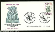 NIGER CENTENARY OF THE INT'L TELECOMMUNICATION UNION SET FIRST DAY COVERS