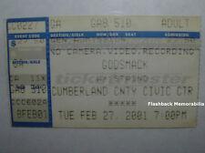 Godsmack / Staind Concert Ticket Stub Portland Me 2001 Rare Cumberland Co.C.C.