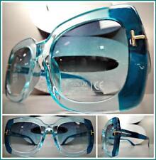 2ec62276ea7 Oversized RETRO Luxury Designer Style SUN GLASSES Square Turquoise Frame    Lens