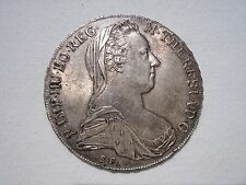 1780 DATED M.THERESIA THALER 0.8330 SILVER COIN EARLY RESTRIKE D:41mm  W:28.07gr
