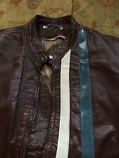 LEATHER MOTORCYCLE TUNIC MUSTANG COBRA FORD SCHOTT LEMANS JACKET STEVE MCQUEEN