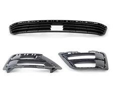 New Genuine Volkswagen Golf R Mk7 Set Of Front Bumper Lower Grills Black OEM