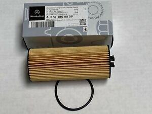 Mercedes Benz Genuine C CL CLA E CLS ML GLE S SL SLK AMG Engine Oil Filter Kit