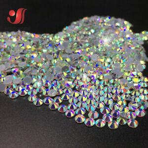 1440pc Sparkly Crystal AB Iron On Hotfix Rhinestone HotFix Flatback Strass Stone