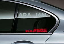 POWERED BY RACING Vinyl Decal sticker emblem sport speed car logo window RED