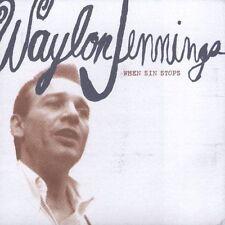 When Sin Stops Waylon Jennings CD 2005 Masked Weasel 14 Songs FAST USA SHIPPING