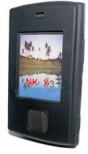 Silikon TPU Handy Cover Case Hülle Schale Schutzhülle  in Schwarz für Nokia X3