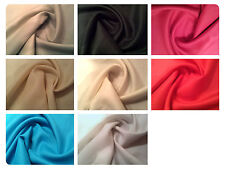 "Natural Pure 100% Linen Fabric Dress Material - 8 Colours - 54"" (137cm) Wide"