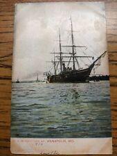 Sloop-of-War USS HARTFORD Naval Cover unused postcard ANNAPOLIS, MD