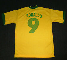 Ronaldo #9 Brazil National Team Soccer Football Jersey, Men's M