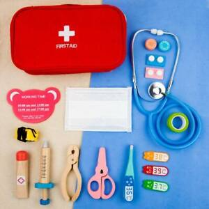 17PCS Medical Kit Doctor Nurse Dentist Pretend Roles Play Game Toy Set Kids Gift