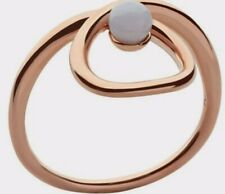 Links Of London Serpentine Ring Rose Gold Size N Agate Gem Bnib Vermeil