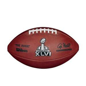 SUPER BOWL XLVI 46 Authentic Wilson NFL Game Football - NEW YORK GIANTS