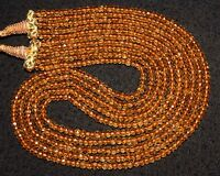 N-0004 Citrine Natural Gemstone Rondelle Faceted Loose Beads Necklace Wholesale