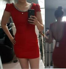 New With Tags Windsor Red Dress Small Jewel Neckline Low Back