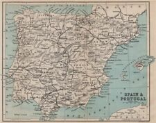 SPAIN & PORTUGAL. Iberia railways 1885 old antique vintage map plan chart