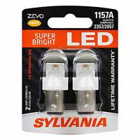 Sylvania Zevo 1157 Amber LED Bright Interior Exterior Mini Light Bulb, 2 Pack