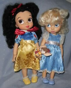 Two Disney Animator Dolls - Snow White and Cinderella in Original Clothes